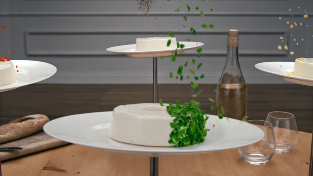 awesome cheese advert spinning plates