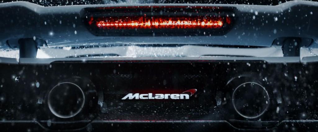 mclaren ad exhaust rear shot