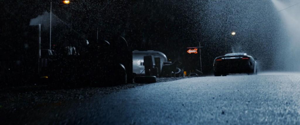 mclaren advert car rain