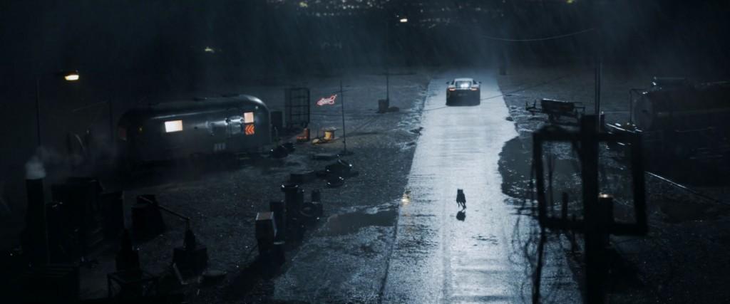 mclaren advert rain chase dog